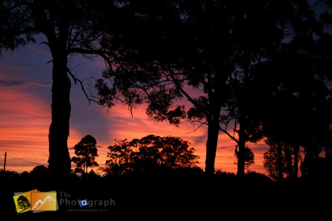 sunset in Alstonville NSW