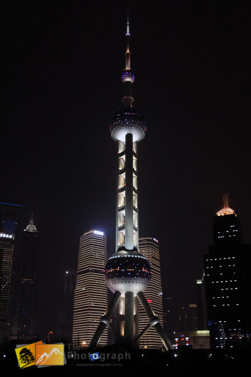 Shanghai tower by night