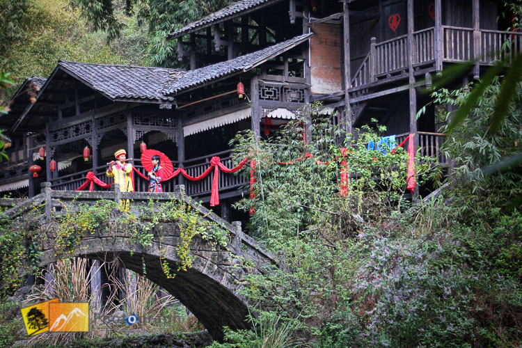 Traditional music in a village by the Yangtze river
