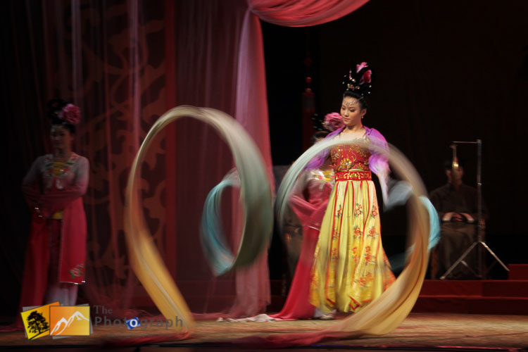 Chinese show with swirling silks