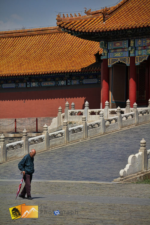 Lonely figure at the Imperial forbidden city