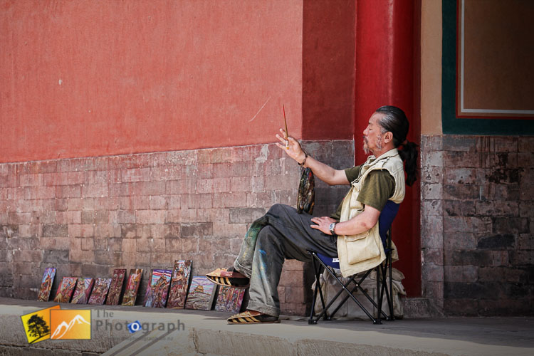 Painter at the Imperial forbidden city