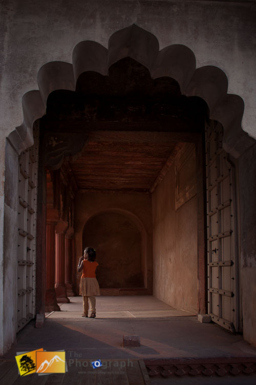 girl at Red Fort India