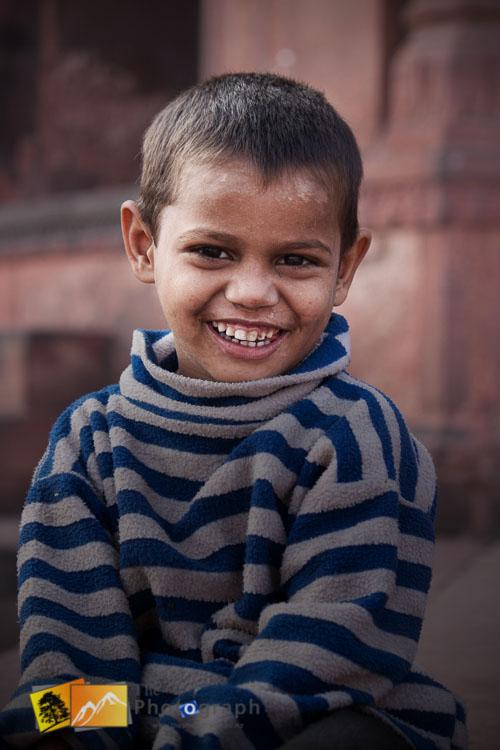 Beggar boy in Delhi India