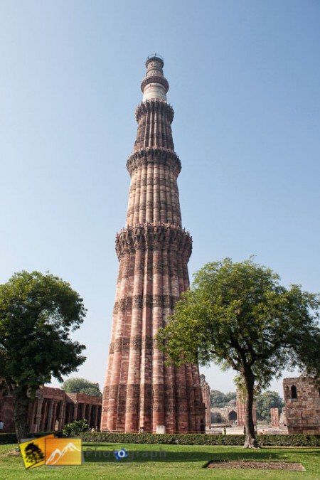 Qutab Minar brick tower