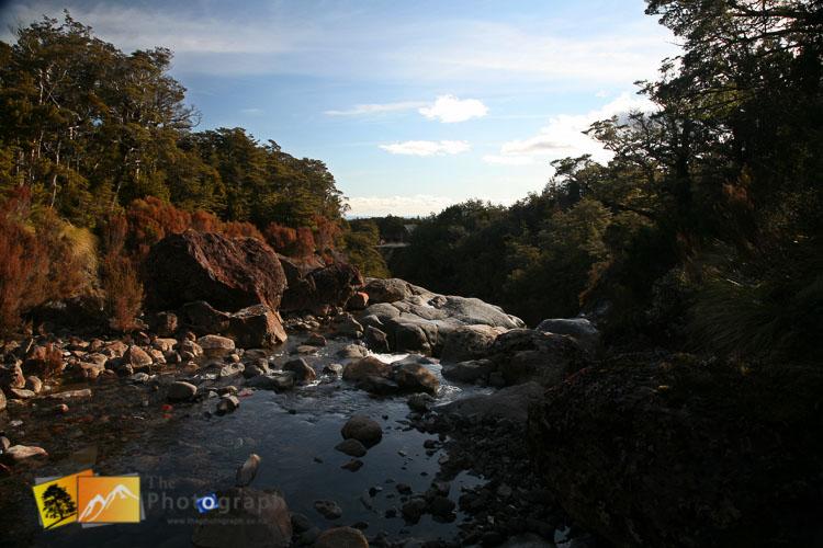 River on mount Ruapehu.