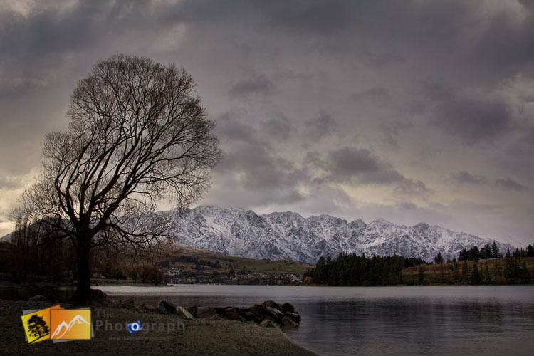 Winter landscape scene of the Remarkables.