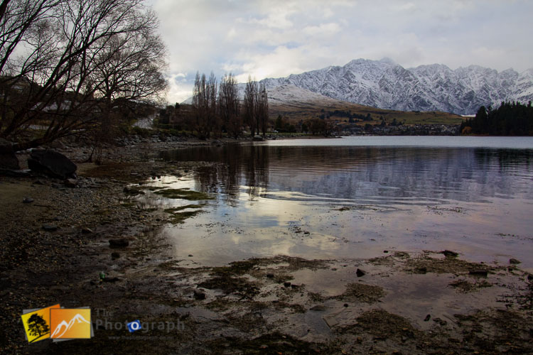 View of the Remarkables from Queenstown in Winter.