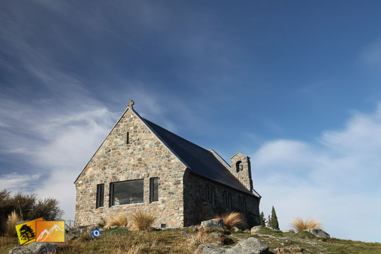 Church at lake Tekapo.