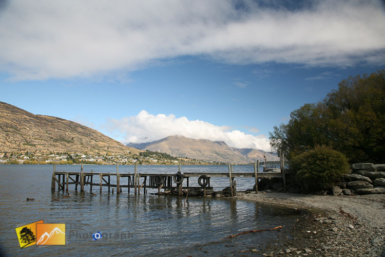 Small jetty on lake Wakatipu.