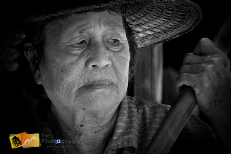 market trader on the floating market
