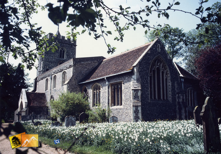 aston village church in spring